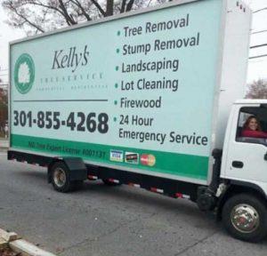Kellys Tree Service Truck