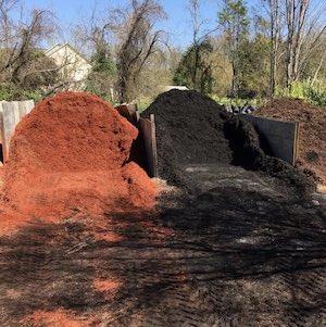 Red Black Brown Mulch